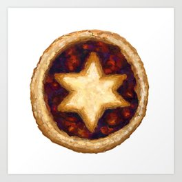 Sweet mince pie painting Art Print