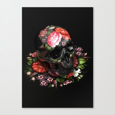 Zhostovo Skull Canvas Print