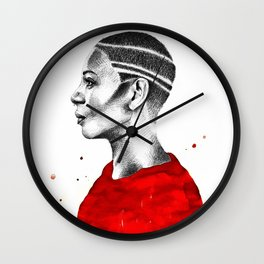 Red Profile Wall Clock