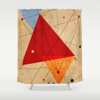 jazzberry Shower Curtains featuring knot by .eg.
