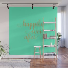 Happily Ever After - Mint and Gold Wall Mural