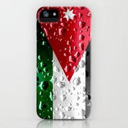 Jordanian Flag - Raindrops iPhone Case