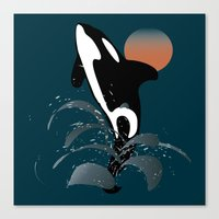 orca Canvas Prints featuring Orca by VanessaGF