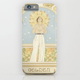 (You're so) Golden Art Noueau iPhone Case