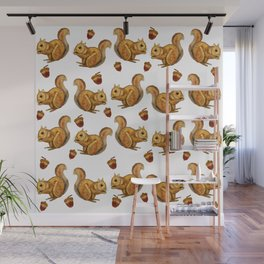 Squirrel and His Acorn Wall Mural
