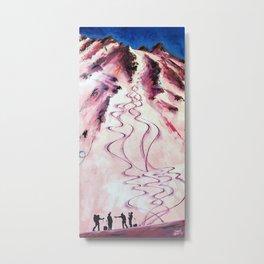 Apres Alpenglow Metal Print
