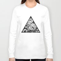 triangle Long Sleeve T-shirts featuring Triangle by adroverart