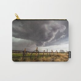 Western Life - Barbed Wire and Storm on the Ranch Carry-All Pouch