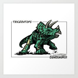 Dinosaur - Triceratops Art Print