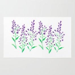 Purple Delphinium Rug