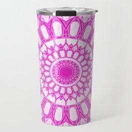 Flower Mandala serie pink Travel Mug