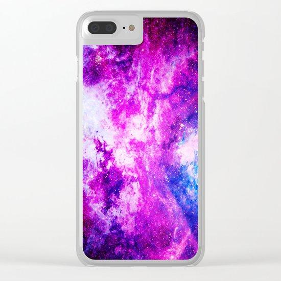 Purple Blue nebuLA Clear iPhone Case