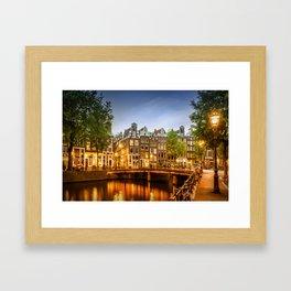 AMSTERDAM Idyllic impression from Singel Framed Art Print