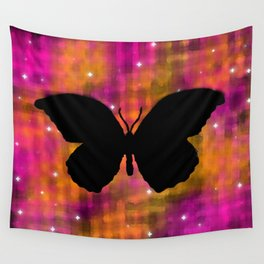 Butterfly Galaxy Watercolor Wall Tapestry