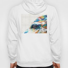 Colorful Horse Art - A Gentle Sol - Sharon Cummings Hoody