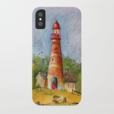 Red Lighthouse Slim Case iPhone X