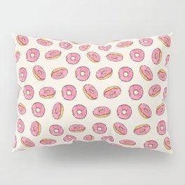 Strawberry Donuts on Cream Pillow Sham