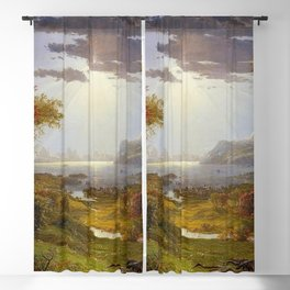 Autumn & Rays of Sun in the Hudson River Valley by Jasper Francis Cropsey Blackout Curtain