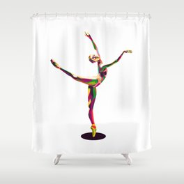 colorful ballerina Shower Curtain