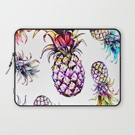 colorful pineapple drawing pattern Laptop Sleeve