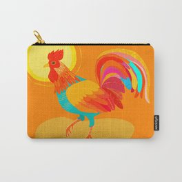 Orange Rooster Carry-All Pouch