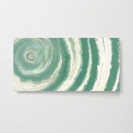 Sea Green Agate Texture Metal Print