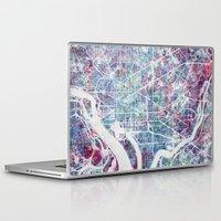washington Laptop & iPad Skins featuring Washington map by MapMapMaps.Watercolors