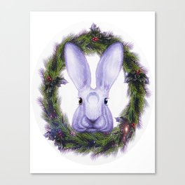 Winter Solstice Hare Canvas Print