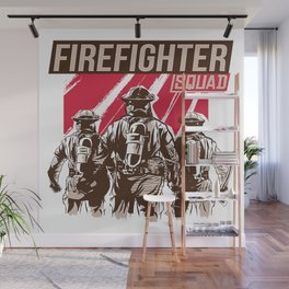 Firefighter Squad Wall Mural