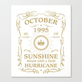 October 1995 Sunshine mixed Hurricane Canvas Print