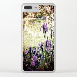 Purple Irises Clear iPhone Case
