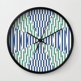 Crossing the lines - the blue and green optical illusion Wall Clock