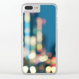 Blurred Traffic Clear iPhone Case