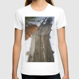 Pathway between tree shadows T-shirt