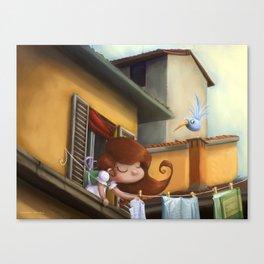 """hanging books"" Canvas Print"