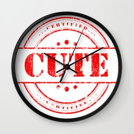 Mark Cute Design Tshirt for Sale Wall Clock
