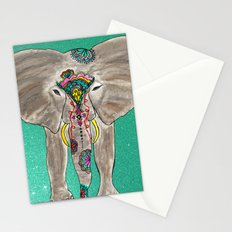 Elephant Trunk Art  Stationery Cards