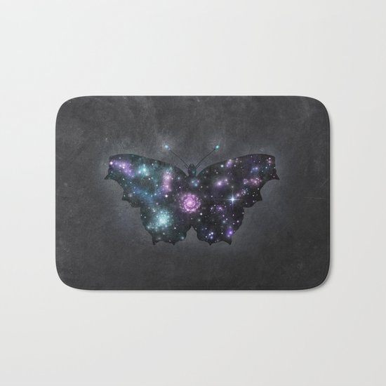 Cosmic Butterfly Bath Mat