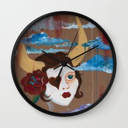 Taurean Goddess Wall Clock