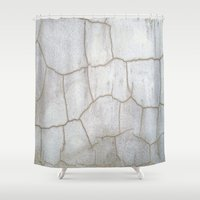 cracked Shower Curtains featuring Cracked  by Ethna Gillespie