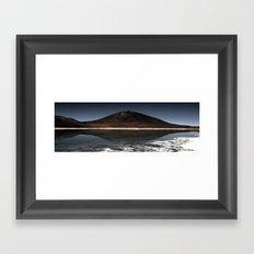 Mountain of the lake Framed Art Print
