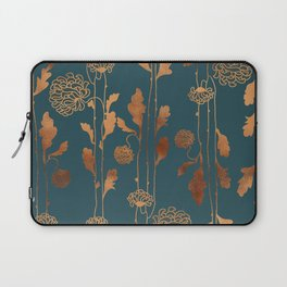 Art Deco Copper Flowers Laptop Sleeve