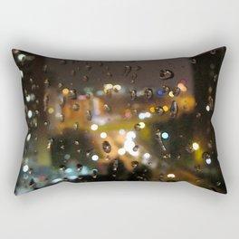 Rainy Night City Rectangular Pillow