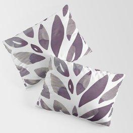 Watercolor floral petals - purple and grey Pillow Sham