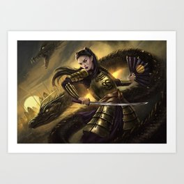 Dragon Army Art Print