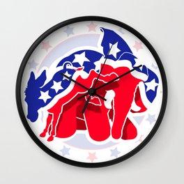 Political Fight Wall Clock