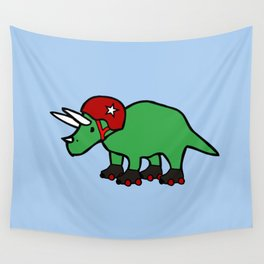Roller Derby Triceratops Wall Tapestry