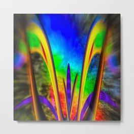 Fertile imagination 7 Rainbow Flower Metal Print