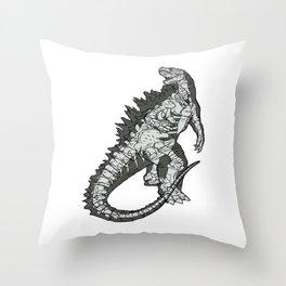 Gojira The King Throw Pillow