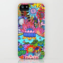Pond Abstract iPhone Case